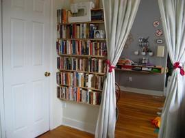本棚,作り付け,デッドスペース
